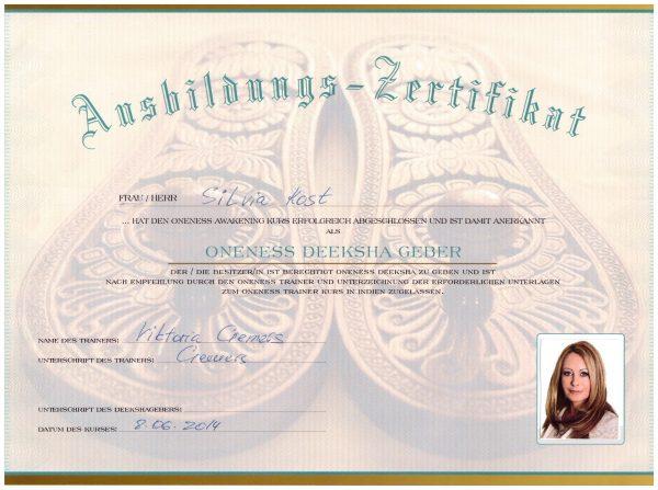 Ausbildung-Zertifikat